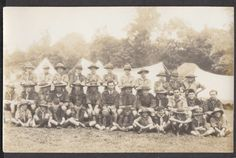KENT BROADSTAIRS BOY SCOUTS & CUBS CAMP GROUP PHOTO CARD
