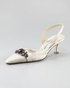 Shop Manolo Blahnik shoes at Neiman Marcus. Get a first look into what's next in fashion with these stark slide sandals and patterned pumps. Victorian Shoes, Kitten Heel Shoes, Manolo Blahnik Heels, Designer Heels, Fashion Heels, Beautiful Shoes, Pumps Heels, Flats, Slingback Shoes