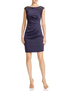 Adrianna Papell Embellished Cap Sleeve Dress | Bloomingdale's