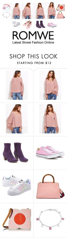 """Pretty in Pink"" by hello-alex106 ❤ liked on Polyvore featuring Converse, adidas Originals, Gucci, Orla Kiely and Bling Jewelry"