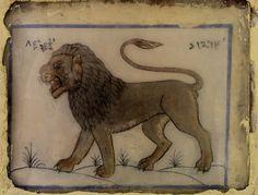 Leo, zodiac sign at the Jantar Mantar observatory, Jaipur