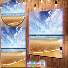 awesome Designart 'Beautiful Sea under Bright Sky' Seashore Metal Wall Art Check more at http://hasiera.co.uk/s/furnishings/product/designart-beautiful-sea-under-bright-sky-seashore-metal-wall-art/