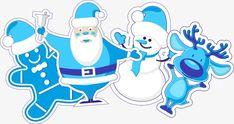 Azul pintada a mano Santa Claus Snowman, Pintado A Mano, Azul, Santa Claus PNG y Vector
