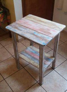 Mini Pallet Wood #Table - 150+ Wonderful Pallet Furniture Ideas | 101 Pallet Ideas - Part 11
