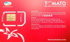 Vietnam SIM Card Viettel Tomato SIM With 40,000 Dong Call Credit Included!