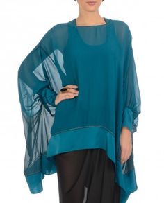 Teal Short Kaftan Tunic-and I love this color too!