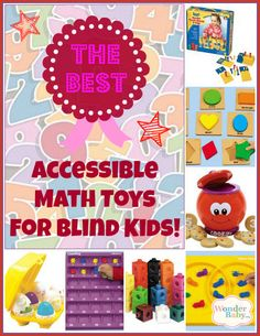 The best accessible math and number toys for teaching numbers, counting and one-to-one correspondence to blind and visually impaired children.