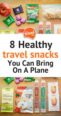 HEALTHY TRAVEL SNACKS YOU CAN BRING ON A PLANE - How to make a pack of healthy snacks for plane travel that's full of gourmet grab-and-go foods that areTSA-friendly too. | thetravelbite.com | #travel #travelsnacks #packingtips