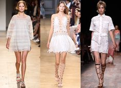 Sweet, but not too sweet is a good way to describe the LWD of the moment, which uses super-high hemlines and peek-a-boo panels to counter lots of feminine lace, eyelet and crochet work. Once the weather warms up, you'll want to live in these dresses.
