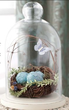 Easter Bell Jar. Lovely - and cat proof - mb