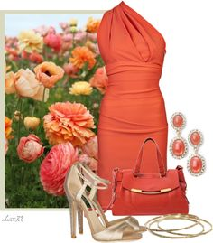 """""""Coral"""" by christa72 ❤ liked on Polyvore"""