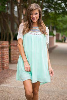 """Sweet Inspiration Dress, Mint"""