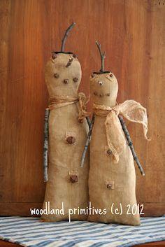 Prim snowmen...so cute!