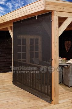 Log cabins 529102656221579601 - Roll up cloth wall for a gazebo, log cabin, or garden building canopy. Complete with rail, cloth, clasps and fitting kit. Source by sandrineguarini Garden Buildings, Patio Design, Backyard Projects, Garden Room, Log Cabin Rustic, Outdoor Living, Modern Gazebo