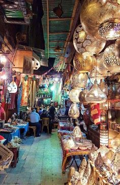 Khan El khalili, Old Cairo Egypt. Markets are a great way to immerse a language learner into the culture in an enclosed space where their language use is vital and imperative.