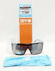 Spy Sunglasses Flynn Black Matte Happy Gray Green Lens MX Surf Snow Sport Beach #Spy #Sport #sunglasses #Sun #glasses