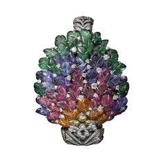 High Jewelry bracelet Platinum, mandarin garnets, pink tourmalines, tanzanites, tsavorite garnets, yellow diamonds, brilliants