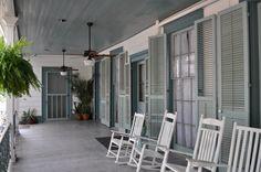 Myrtles Plantation Back Porch  St. Francisville, Louisiana