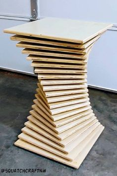 Parametric End Table Vector File Dxf File Night Stand Functional Art Geometric Sculpture Modern Design Abstract Art Cnc Furniture - Modern Furniture: Affordable, Unique, Edgy