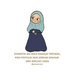 Allah Quotes, Muslim Quotes, Islamic Quotes, Cute Cartoon Quotes, Cute Quotes, Reminder Quotes, Self Reminder, Quotes Lucu, Islamic Cartoon
