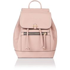 Accessorize Katie Mini Backpack ($54) ❤ liked on Polyvore featuring bags, backpacks, backpack bags, rucksack bags, miniature backpack, flap bag and pink backpack