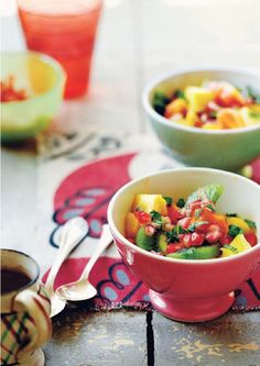 A Summery Fruit Salad from Very Fond of Food: A Year in Recipes