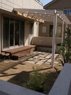 Pergola patio deck gardens 37 Ideas for 2019 Diy Pergola, Pergola With Roof, Diy Patio, Backyard Patio, Pergola Ideas, Concrete Patios, Brick Patios, Small Brick Patio, Small Outdoor Patios