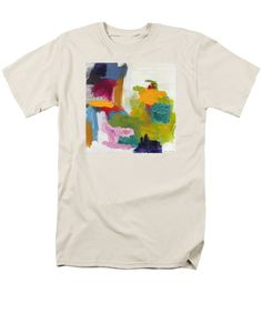 Abstract Men's T-Shirt  (Regular Fit) featuring the painting Serene by Noa Yerushalmi