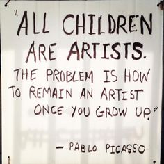 pablo picasso all children are born artist -\ Picasso Pictures, Pablo Picasso Quotes, Picasso Art, Great Quotes, Inspirational Quotes, Motivational, Kid Quotes, Profound Quotes, Writing Quotes