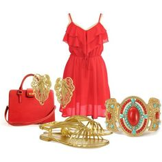 Red and gold outfit....perfect for Erskine!