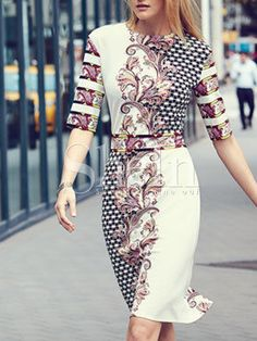 Shop Crew Neck Tribal Print Sheath Dress online. SheIn offers Crew Neck Tribal Print Sheath Dress & more to fit your fashionable needs.