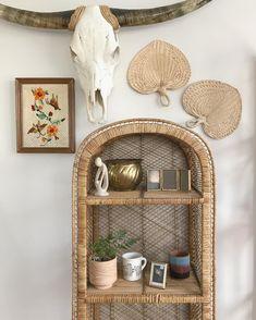 Tuesday's treasures...DM to purchase.Skull & plant NFS...#tuesday #treasure #wicker #fan #wall #decor #home #homedecor #brass #mug #cactus #southwestern #skull #terracotta #portland #oregon #pnw #shoplocal #shop #art Wall Ideas, Decor Ideas, Bohemian Room, Wall Decor, Room Decor, Wall Fans, Shop Art, Shelfie, First Home