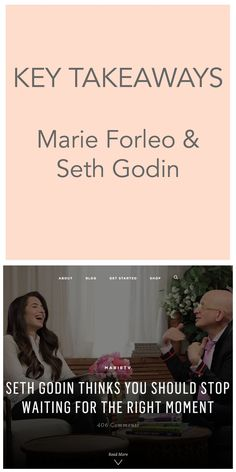 Overcoming Doubt with Seth Godin & Marie Forleo: Key Takeaways - Sarah Evelyn Edits