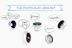 Glass lenses that work on <i>any</i> phone. iPhone, Android, iPads, iPods, and more!