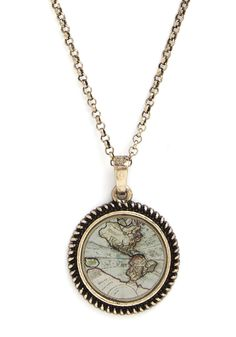 Plot the Course Necklace. On your summer road trip, youre the natural navigator - exemplified by this ModCloth-exclusive map necklace.  #modcloth