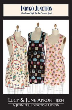 Lucy & June Apron sewing pattern from Indygo Junction