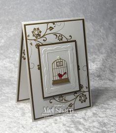 What an awesome card by Mel. It features Aviary, Flowering Flourishes, and the Designer Frames embossing folder.