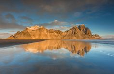 Vestrahorn - From the South Eatern coast of Iceland.Vestrahorn, Stockness close to Hofn