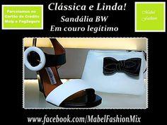 Clássica e Linda! Sandália B & W salto Anabela Em couro legítimo  Parcelamos nos cartões www.facebook.com/MabelFashionMix