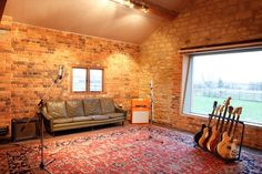 The Second live room at Angelic Studios, Oxford Studio 42, Music Studio Room, Studio Setup, Music Recording Studio, Recording Studio Design, Home Music Rooms, Second Live, Rehearsal Room, Backyard Studio