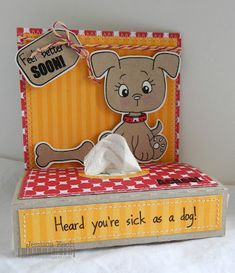 Inspiration card My Craft Spot: Guest Designer - Jessica from Chick-n-Scrap Pocket tissue gift card Get Well