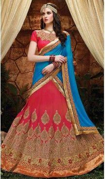 Deep Pink Color Silk Circular Style Indian Traditional Wear Lehenga Choli | FH555883006 Follow us @heenastyle  #traditional #lehengas #Indianlehengas #occasionwear #ghagracholi #bridaloutfit #women #dress #fabrics #styling #flowingskirt #heenastyle, #heenastylelehengacholi, #readymadelehenga