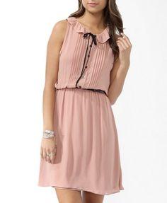Ruffled Collar Dress w/ Belt from Forever21.com