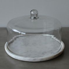 $Caravan Marble Cake Plate with Glass Dome - Bloomingdale's