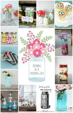 Pretty mason jar ideas for spring!