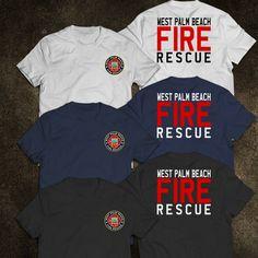 92f47ff4 New West Palm Beach Florida Firefighter Fire Department Rare Firearm US T- Shirt #florida