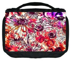 Flower Collage TM Small Travel Sized Hanging Cosmetic/Toiletry Case with 3 Compartments and Detachable Hanger-Made in the U.S.A. *** Find out more about the great product at the image link.