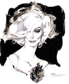 Carmen Dell' Orefice, by David Downton