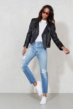 25 Black Leather Jackets For Instant Street Cred #refinery29  http://www.refinery29.com/best-leather-jackets#slide20