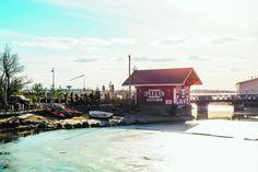 Heißer Kaffee an kalter Meeresbrise? Ab ins Café Regatta! #Finnland #Helsinki